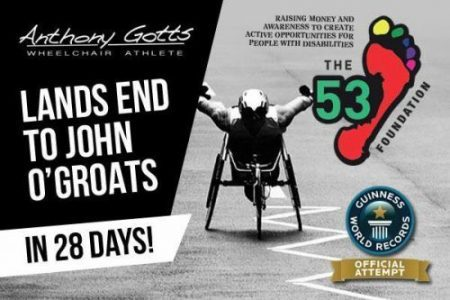WheelChair LandsEnd to John O'Groats World Record Attempt